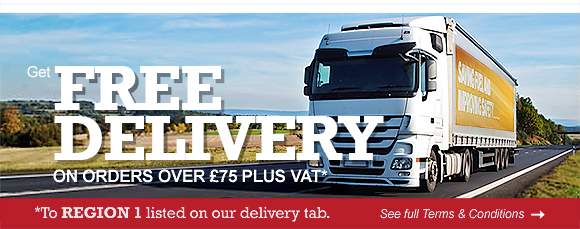 FREE DELIVERY ON ORDERS OVER £75 PLUS VAT* (*To REGION 1 listed on our delivery tab.) See full terms and conditions >>