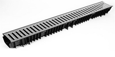 HDPE Drainage Channel x 1m Galvanised Grid
