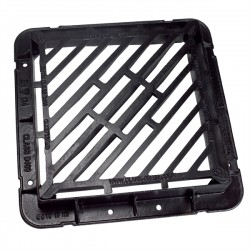 600x600x100 D400 Double Tri Ductile Iron Gully Grate & Frame