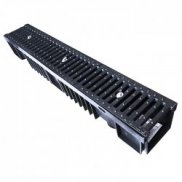 C250 (25tonne) Drainage Channel x 1m Cast Iron Grate