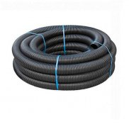 100mm Unperforated Land Drain x 50m Coil