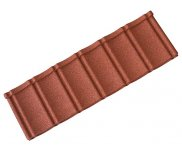 Textured Roof Tile Panel -  Brick Red