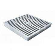 "12"" x 12"" Grey Slotted Catch Basin Grate"