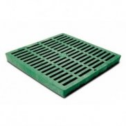 "12"" x 12"" Green Slotted Catch Basin Grate"