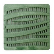 "12"" x 12"" Green 'Wave' Catch Basin Grate"