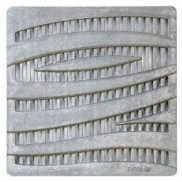 "12"" x 12"" Grey 'Wave' Catch Basin Grate"