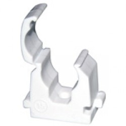 28mm Hinged Pipe Clip (Bag 50)