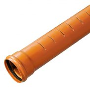 110mm Slotted Underground Drainage Pipe x 3m S/S