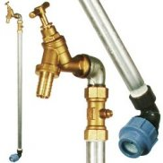 25mm MDPE Standpipe, c/w Single Bib Tap & Double Check Valve