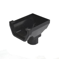 114mm Square Gutter Stop End Outlet to 65mm