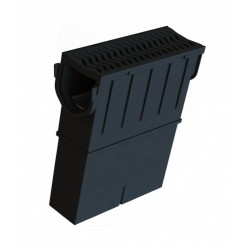Storm Drain Channel Sump Unit with HDPE Grate