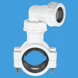 "Universal Pipe clamp for Overflow pipe to fit 1.1/4"" & 1.1/2"" pipe White"