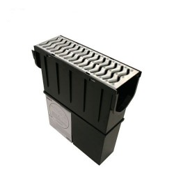 Storm Drain Channel Sump Unit with Galv Grate